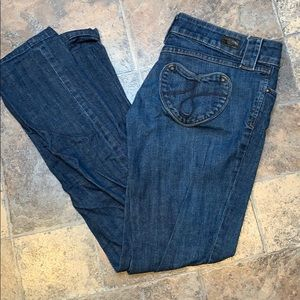 Juicy Couture Kate straight leg jeans like new